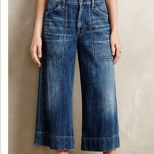 Citizens of Humanity Wide Leg Crop Jeans Size 31